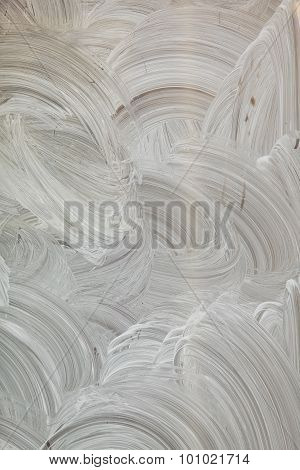 Abstract White Hand Painted Background