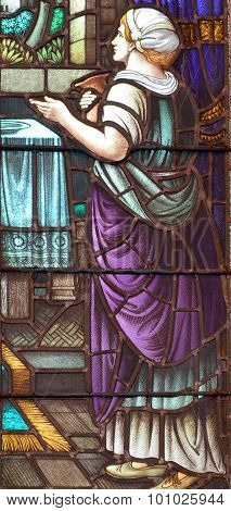 Stained glass window of St. George's Anglican Church