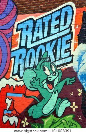 Street art Montreal rat