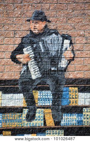 Street art Montreal tag.