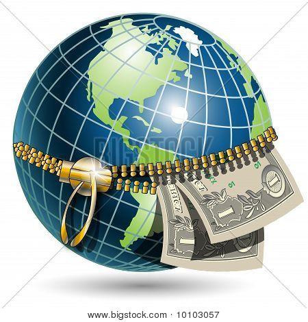 Globe And Dollar