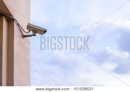Security Camera For Monitor Events In City.