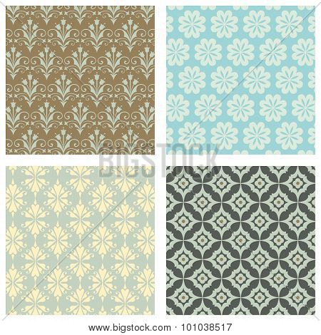 Seamless Wallpaper Pattern Set