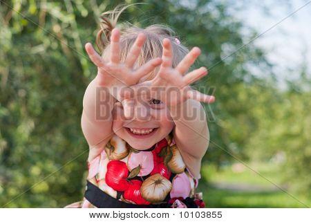 Portrait Of Joyful Playing Girls