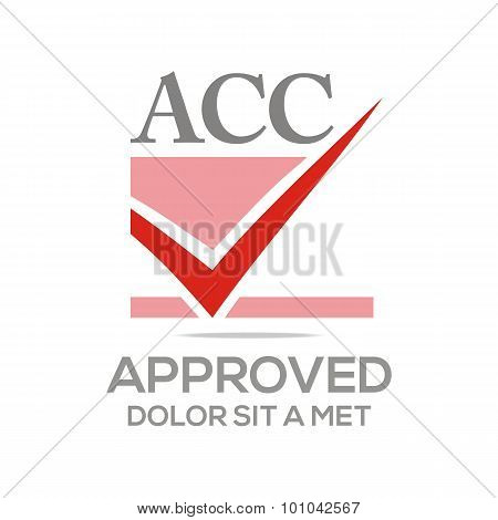 Logo approved icon acc concept