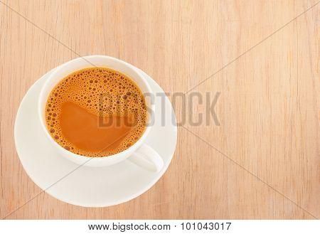 Hot Milk Tea In A White Cup