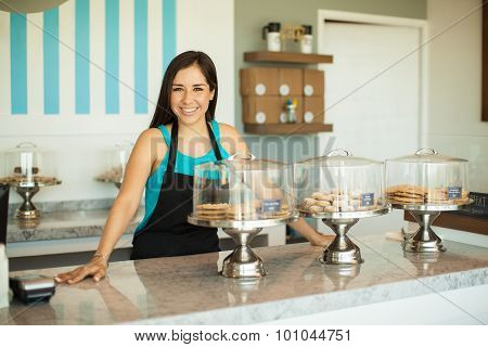 Business Owner In A Bakery