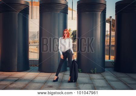 Fashion Redhead Young Woman
