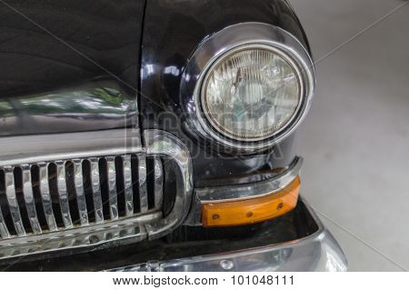 Head-light And Grille Of Old Soviet Retro Style Car