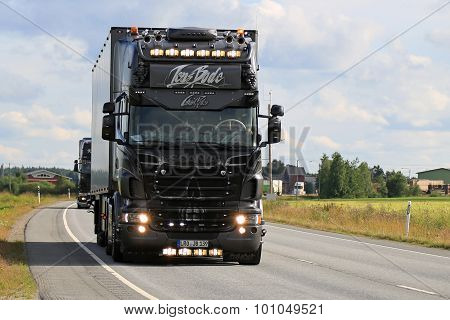 Jens Bode Black Scania R730 Ghost Rider On The Road