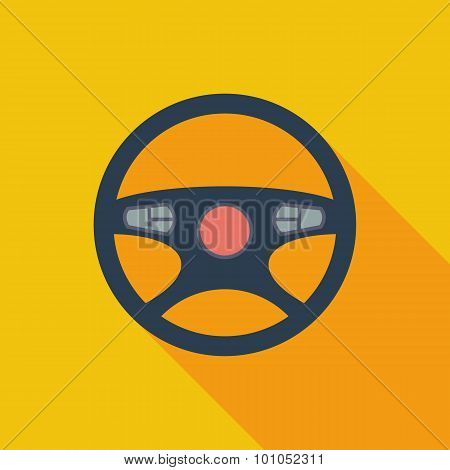 Car Steering Wheel icon.