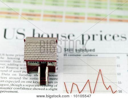 US houses freefall