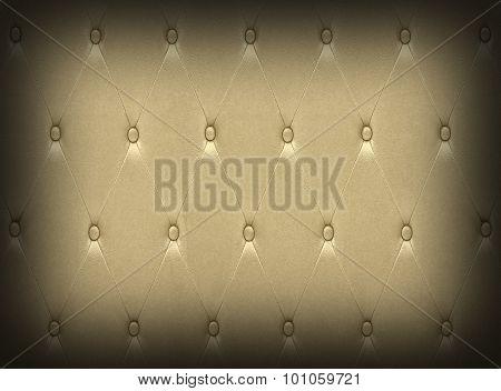 Luxurious Dark Golden Leather  Seat Upholstery