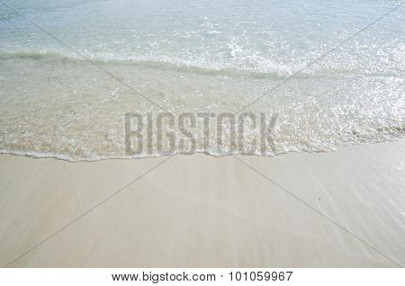 Waves Were Swept Onto The Beach