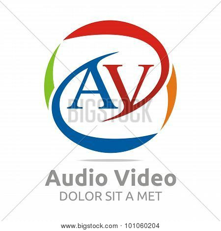 Abstract symbol logo av letter design