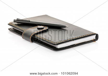 Pen Put On The Notebook