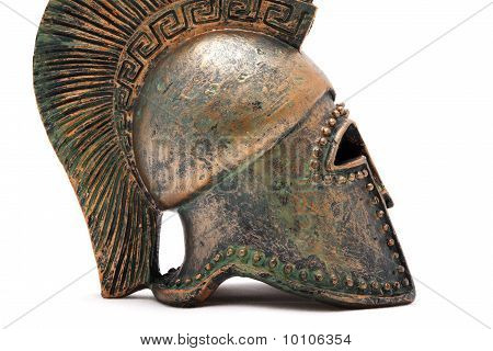 Profile Of Greek Helmet.