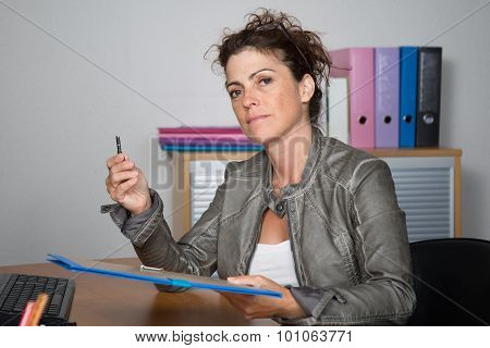 Business, Real Estate, Banking And People Concept - Smiling Businesswoman With Folder And Keys