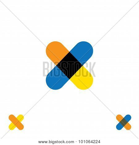Abstract Letter X Logo Design Vector Template And Colorful Creative Character Icon Sign