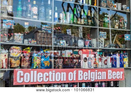 Shop Window In Antwerp, Belgium