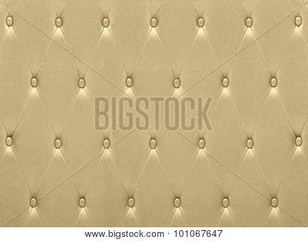 Luxurious Golden Leather  Seat Upholstery