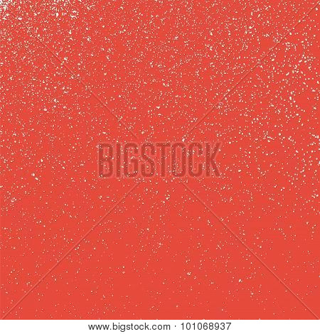 Grainy White Texture On A Red  Background.