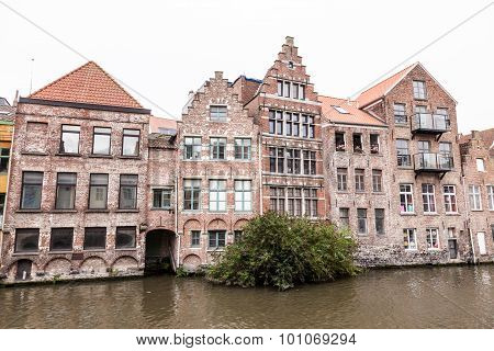 Historic Buildings In Ghent, Belgium