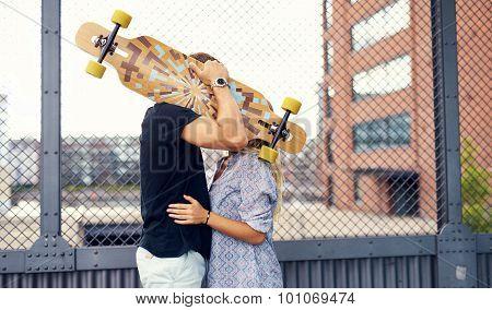 Sweet Couple Kissing