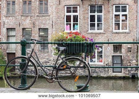 Bicycle In Ghent, Belgium