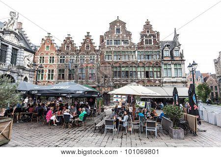 Side Walk Cafe In Ghent, Belgium