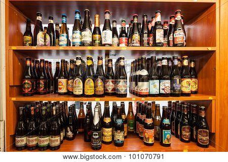 Belgian Beer In A Shop