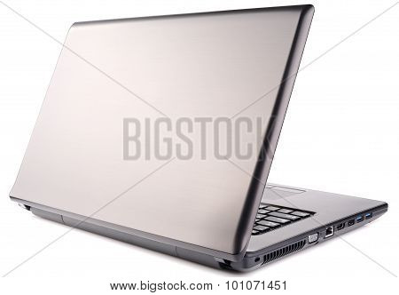 Laptop Rear Isometric View On White