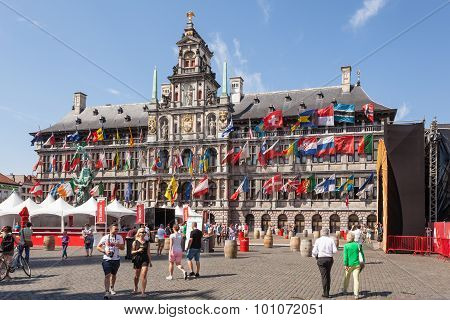 City Hall In Antwerp, Belgium