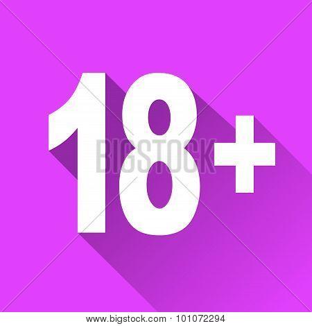 Eighteen Flat Design Icon