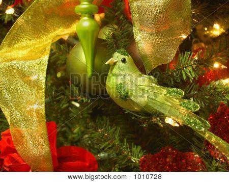 Green Songbird Ornament