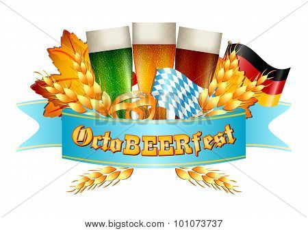 Colorful Logo For cards And Greetings With Oktoberfest