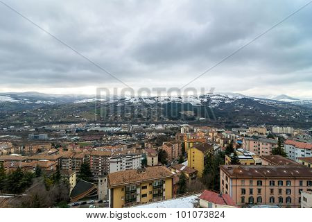 Panoramic Day View Of Potenza, Italy