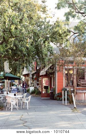 A Quaint Sidewalk, Downtown Davis