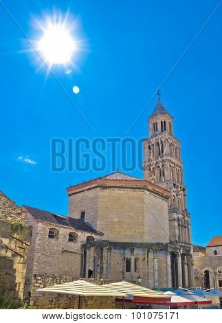 Split Ancient Cathedral Verical View