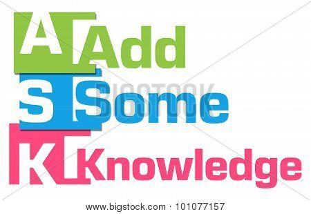 Ask Formula Abstract Colorful Blocks