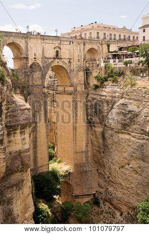 New Bridge (puente Nuevo) Of Ronda In Spain