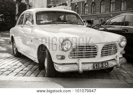 Old White Volvo Amazon 121 B12 Car