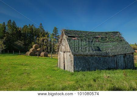 An old farm building in rural Prince Edward Island, Canada.