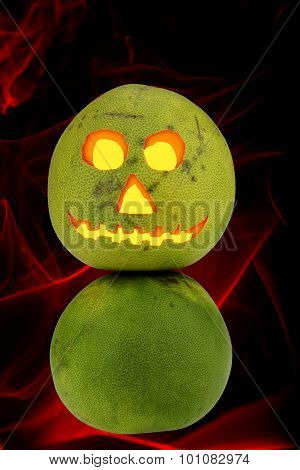 Pomelo Helloween Decoration Glowing