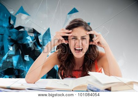 Student goes crazy doing her homework against angular design