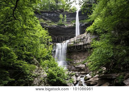 Two-Tier Forest Waterfall
