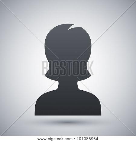 Female User Icon, Vector