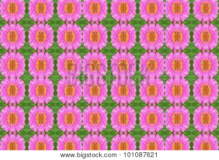 Seamless  Flowers Pattern Background