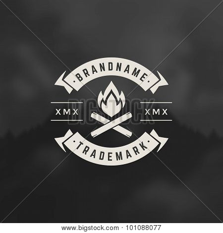 Bonfire flame Design Element