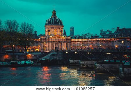 French Institute in Paris at night